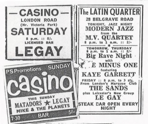 Leicester Mercury ads for the Casino and the Latin Quarter 1966