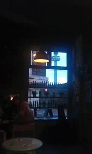 View out the window of Bier bar.