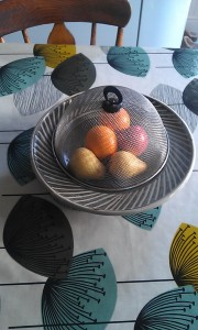 Table with fruit. Very colourful!
