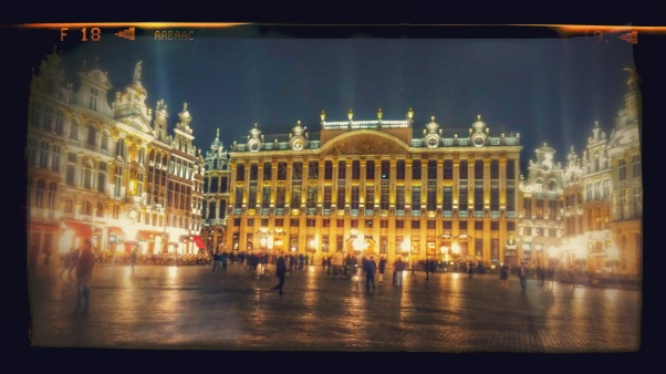 Brussels at night. Beautiful.