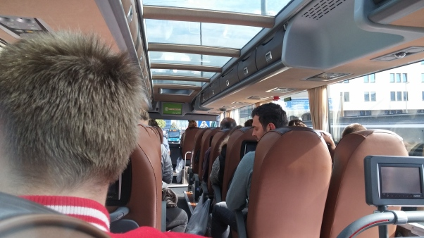 On the bus to Prague