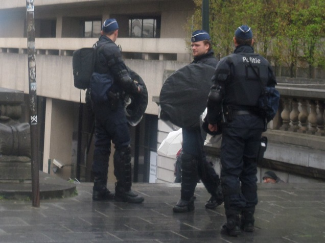 Outside, the riot squad are getting restless, they need somewhere to go..