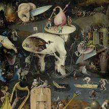 Cover art for Pearls Before Swine's album One Nation Underground, a detail from Hieronymous Bosch's The Garden of Earthly Delights