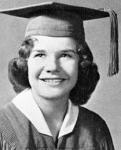 Joplin as she appeared in her 1960 high school photo.