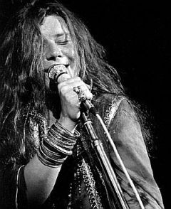 Janis Joplin performing at Woodstock, 1969.