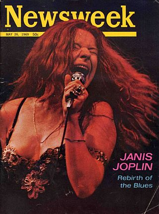 Janis Joplin featured in a 'Newsweek' cover story, 'Rebirth of the Blues,' May 26, 1969.