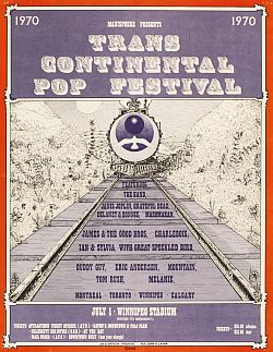 1970 poster advertising Canada's transconti- nental Festival Express.