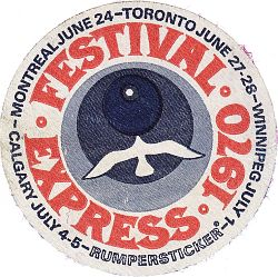 Festival Express logo sticker.
