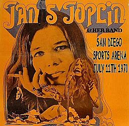 Poster for July 1970 Janis Joplin concert.